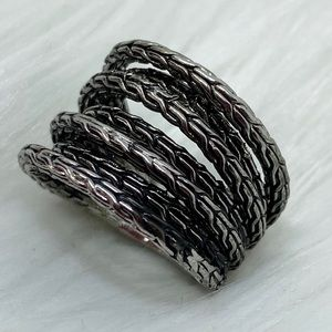 Texture Fashion Statement Ring